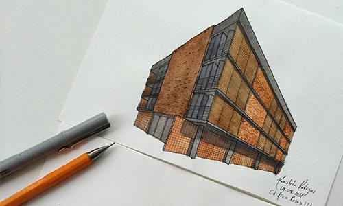 croqui arquitetônico
